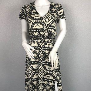 INC Black & Cream Maxi Dress Size Small